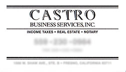 The Original Castro Business Card Design