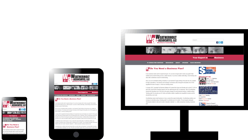 Weatherholt & Associates Responsive Website